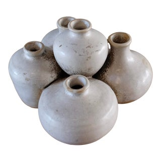 Cluster of Mini Ceramic Vessels For Sale