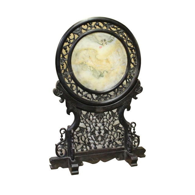 Chinese Dream Stone Fengshui Round Table Top Display Art For Sale In San Francisco - Image 6 of 9
