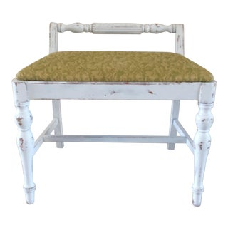Vintage Mid Century Shabby Chic Bench For Sale