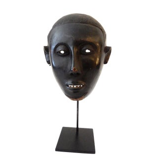 Old African Kono or Mano Sierra Leone Portriat Mask For Sale