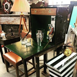 1950s Industrial Military Field Desk Bar Preview