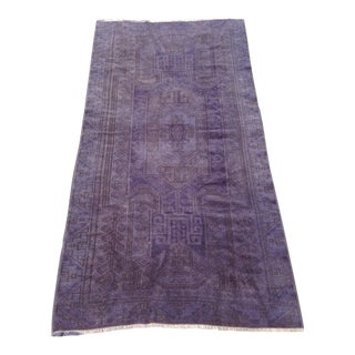 Overdyed Turkish Rug For Sale