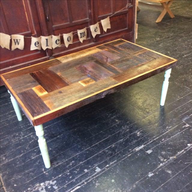 Rustic Handmade Coffee Table - Image 2 of 5