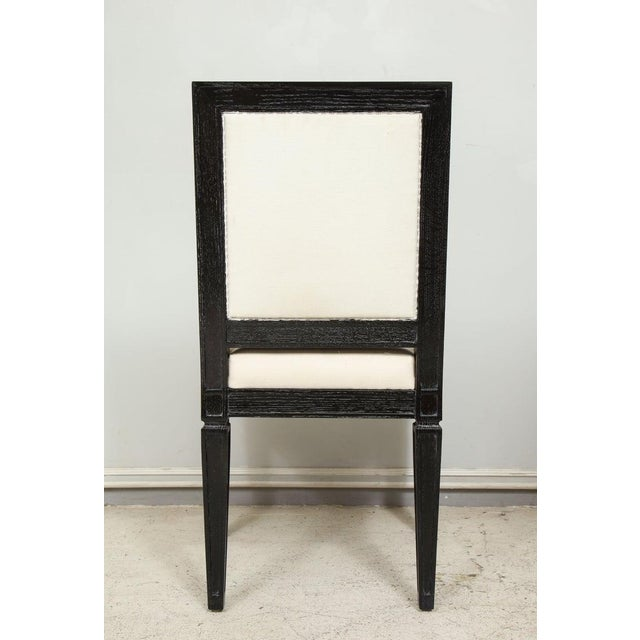 Louis XVI Style Black Cerused Chairs - Set of 4 For Sale - Image 10 of 11