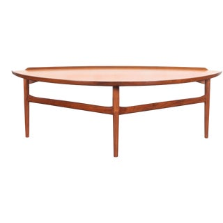 1950s Danish Modern Walnut Cocktail Table by Finn Juhl for Baker For Sale