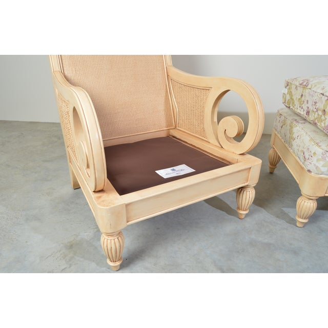 Wood Braxton Culler Grand View Lounge Arm Chair and Ottoman For Sale - Image 7 of 9