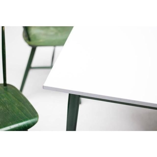 Ilmari Tapiovaara Set of Four Ilmari Tapiovaara Spindle Back Chairs and Table For Sale - Image 4 of 9