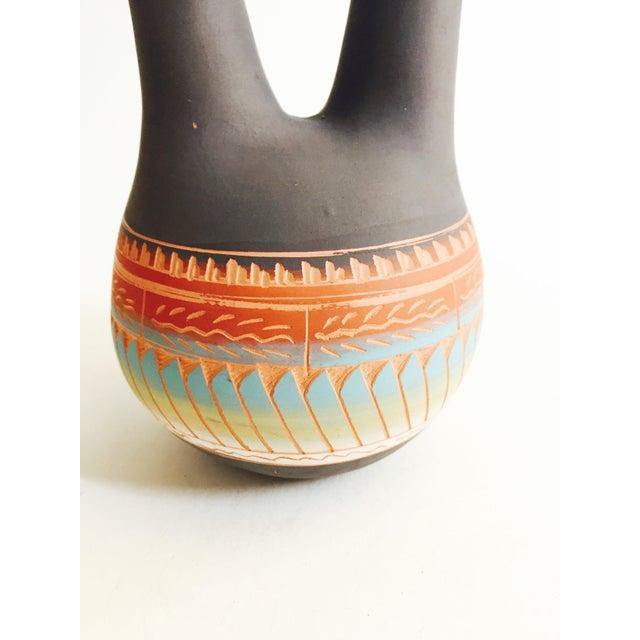 Vintage Navajo Pottery Wedding Vase - Image 5 of 7
