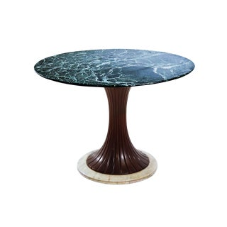 Green Marble Centre or Dining Table by Vittorio Dassi, circa 1950
