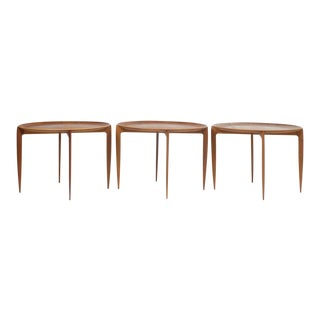 Fritz Hansen Fold Away Tray Top Side Tables For Sale