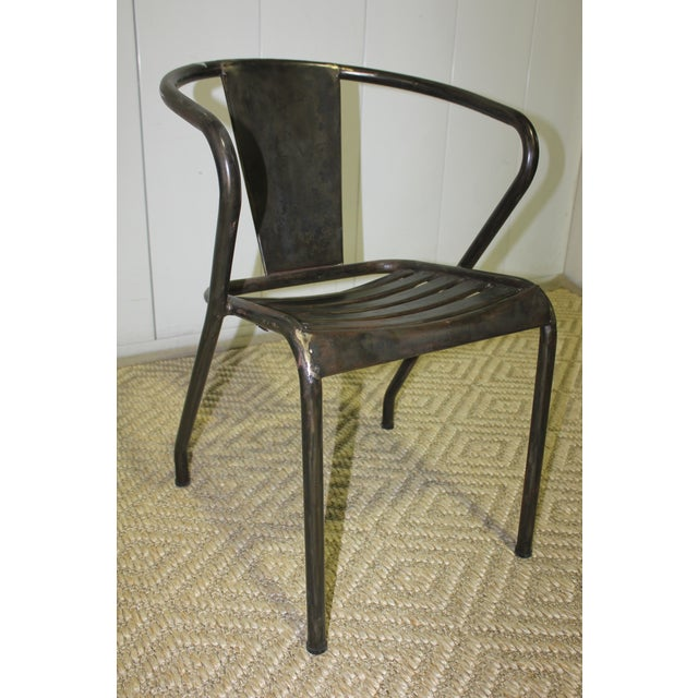 1960s Vintage Metal Dining Chairs- Set of 4 For Sale - Image 4 of 6