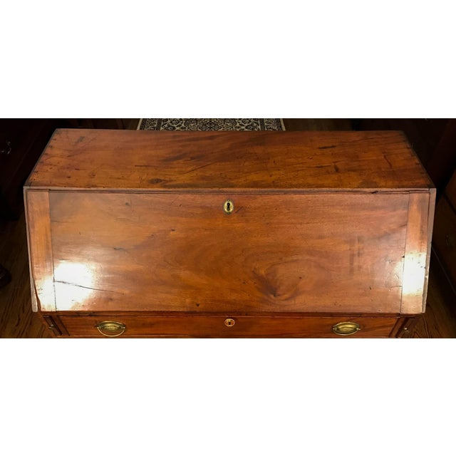 Circa 1790 - This mahogany bureau possesses many of the characteristics that were common for these pieces in the the late...