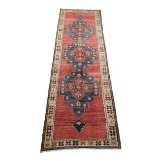1960s Vintage Turkish Hand-Knotted Anatolian Runner For Sale