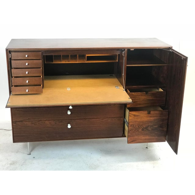 1950s George Nelson Herman Miller Rosewood Thin Edge Desk For Sale - Image 5 of 13