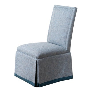 Mr and Mrs Howard 'Pablo' Natoma Blue Upholstered Side Chair For Sale