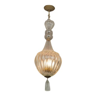 Murano Chandelier Pendant in the Manner of Seguso, Circa 1940 For Sale