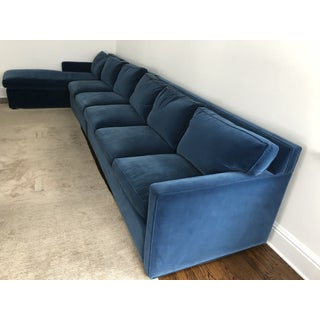 Carlyle Sapphire Blue Velvet Sectional Preview