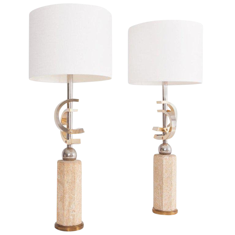 Incredible Coco Chanel Style Table Lamps Set Of Two Decaso