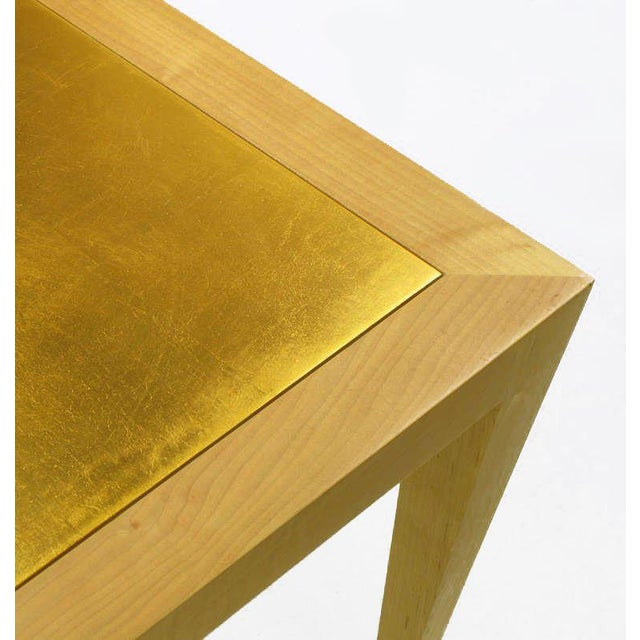 Awe Inspiring Donghia Square Flame Maple Gold Leaf Coffee Table Cjindustries Chair Design For Home Cjindustriesco