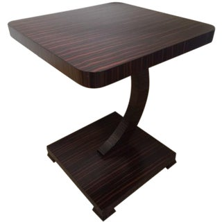 Macassar Ebony Veneer Accent Table