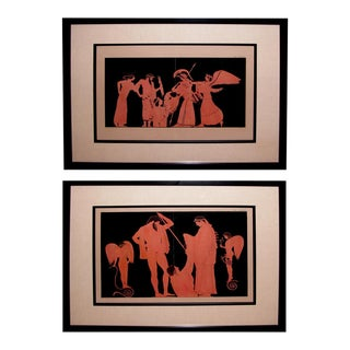 A Handsome Pair of French Stone Lithographs of Classical Figures For Sale