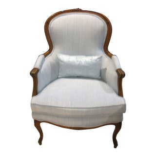 French Louis XV Arm Lounge Chair For Sale