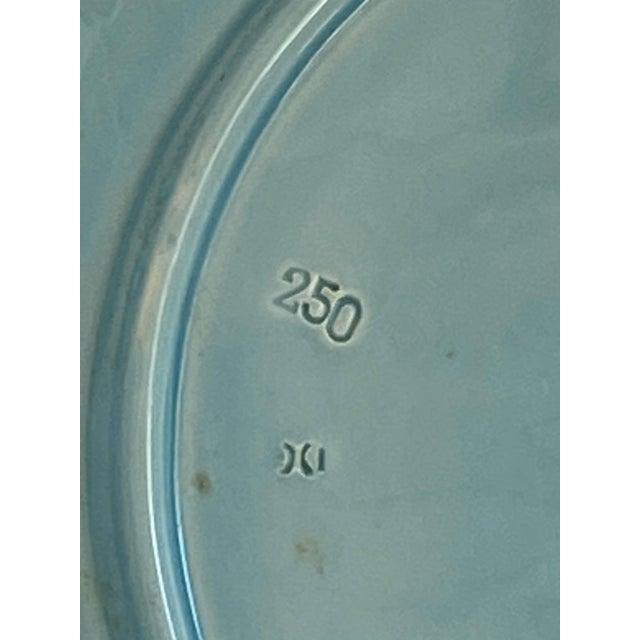 Aqua Aqua Majolica Platter, Germany For Sale - Image 8 of 9