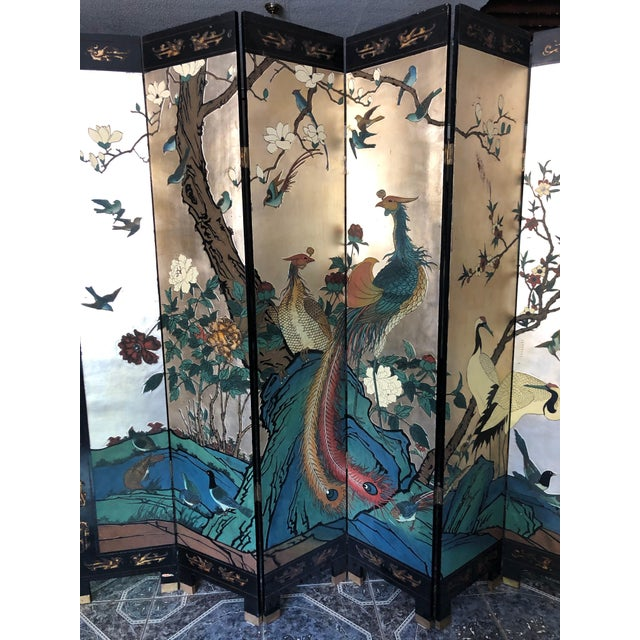 Early 20th Century 8-Panel Coromandel Screen For Sale - Image 4 of 13