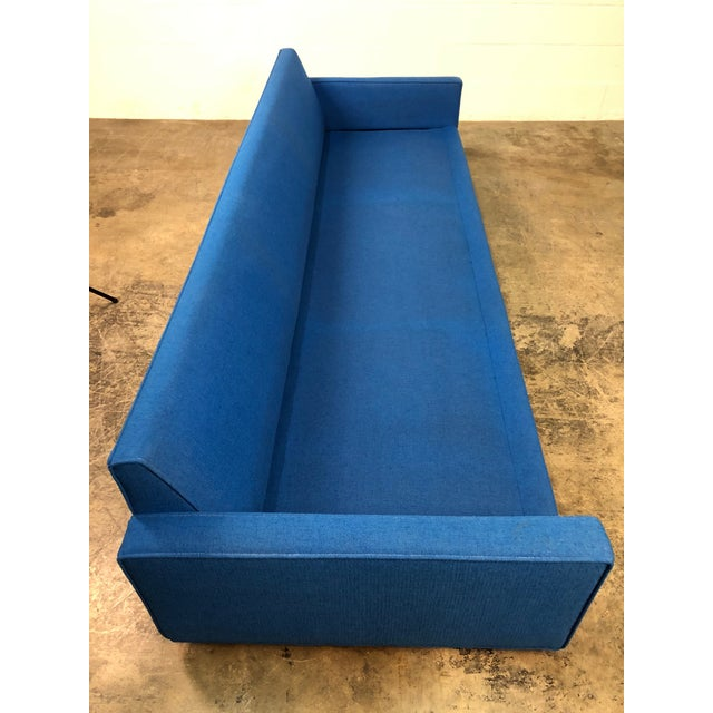 """Royal Blue Mid-Century Modern Sofa ~ 103"""" Long For Sale - Image 10 of 11"""