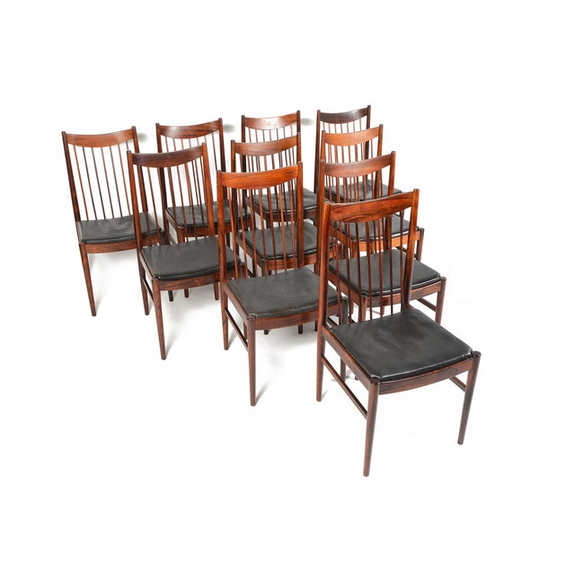 Arne Vodder Rosewood Dining Chairs - Set of 10 - Image 2 of 10