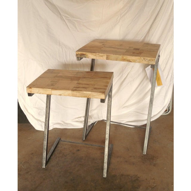 Bernhardt Petrified Wood Nesting Tables - A Pair - Image 8 of 9