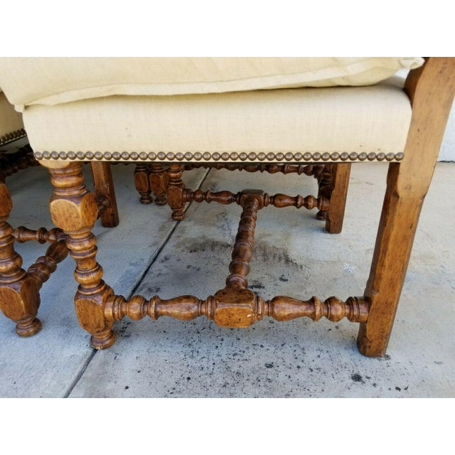 Wood Dennis & Leen Canterbury Jacobean Solid Wood Dining Chairs - Set of 12 For Sale - Image 7 of 10