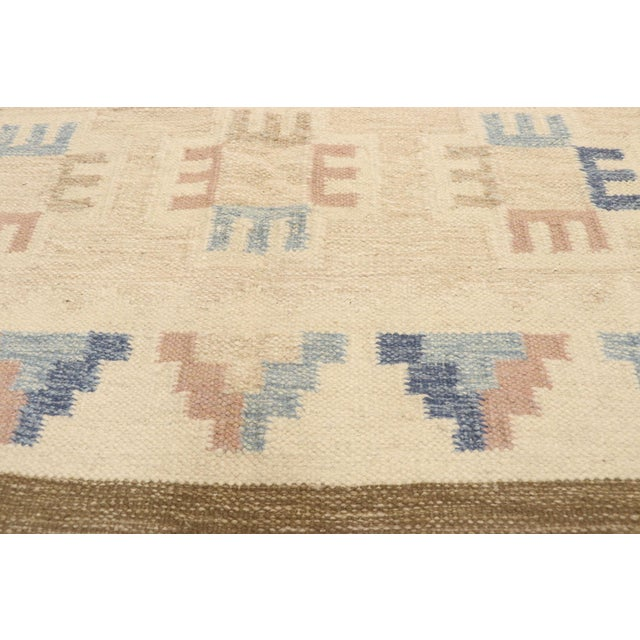 Ingegerd Silow Vintage Scandinavian Modern Style Swedish Kilim Rug - 5'8 X 7'7 For Sale - Image 4 of 9