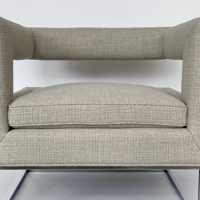 Milo Baughman Open Back Lounge Chairs - a Pair For Sale - Image 12 of 13