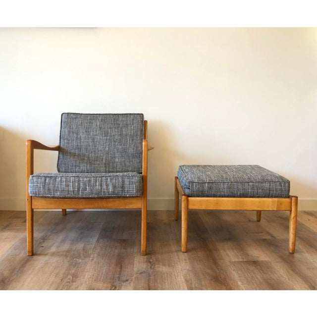 1960s Folke Ohlsson for Dux - Danish MCM Arm Chair With Ottoman For Sale - Image 5 of 12