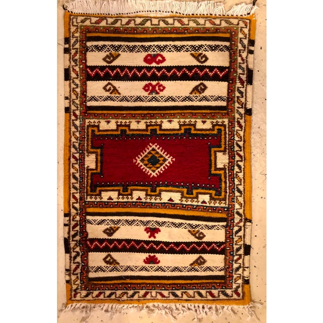 "Tribal Moroccan Berber Rug-2'1'x3'4"" For Sale - Image 3 of 10"
