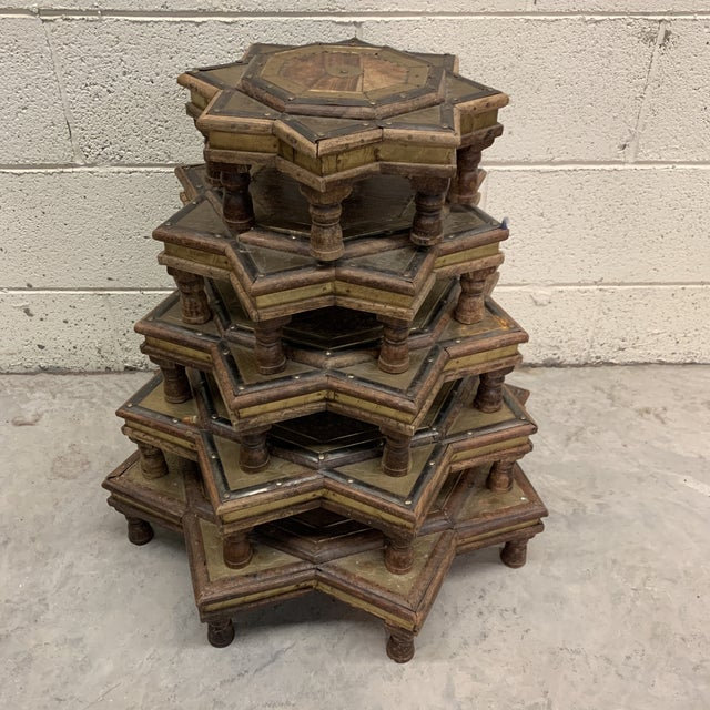 Vintage Moroccan Star Stacking Tables For Sale - Image 12 of 12