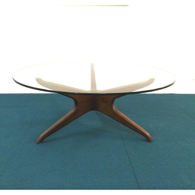 Vladimir Kagan Biomorphic Walnut Coffee Table - Image 6 of 8
