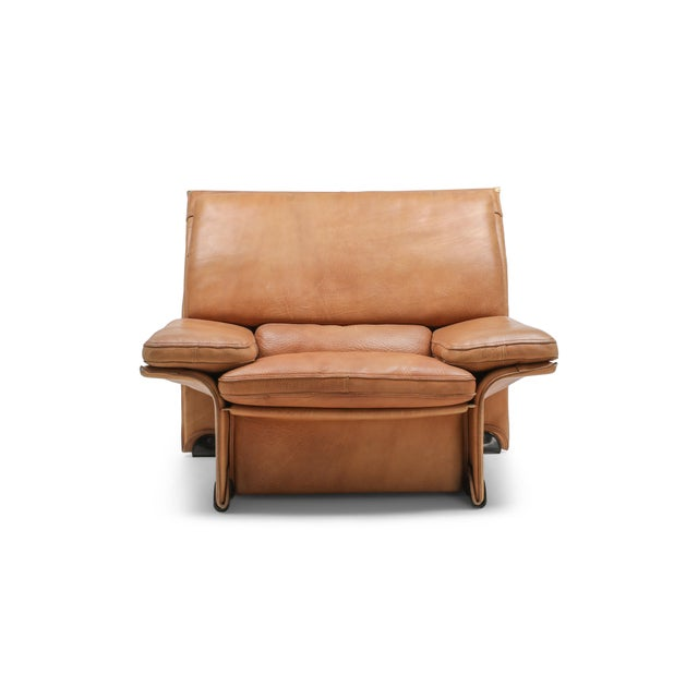 Thick Camel Leather Club Chairs by Titiana Ammanati & Giampiero Vitelli for Brunati - 1970s For Sale - Image 10 of 12