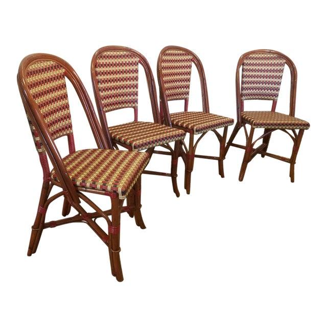 Glac Seat Poitoux Parisian Style Caned Rattan Bistro Chairs Set