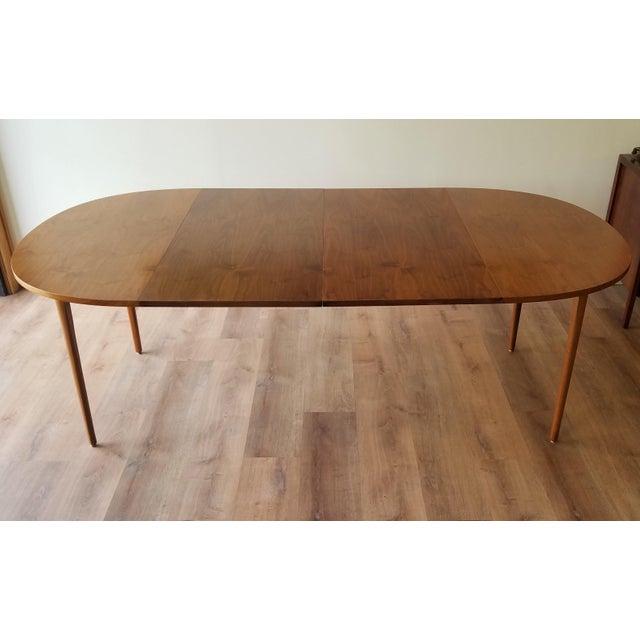 Drexel Heritage 1963 Drexel Declaration Mid-Century Modern Walnut Dining Table For Sale - Image 4 of 13