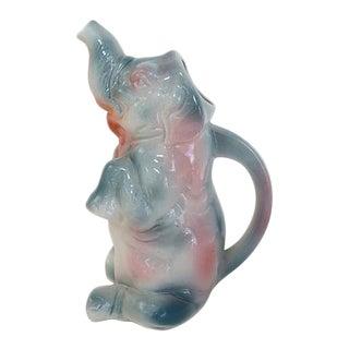 Vintage French Majolica Elephant Jug