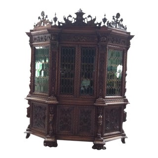 Ornate Renaissance Revival French Bookcase For Sale