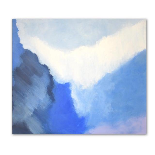 Modern Blue Bloom Painting - 3040 - Image 5 of 5