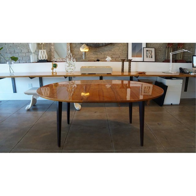 Hollywood Regency 1950s Edward Wormley Dinning Table For Sale - Image 3 of 9