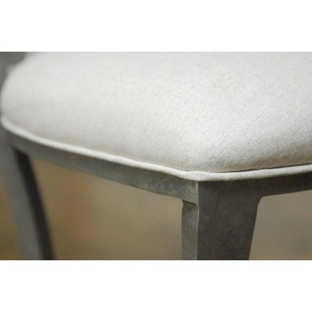 Modern Biedermeier Style Metal Barstools - Set of 3 - Image 6 of 10