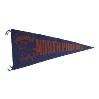 Vintage North Phoenix Felt Flag Pennant For Sale