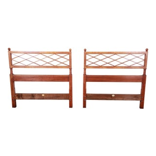 Baker Furniture Mid-Century Twin Headboards - a Pair For Sale