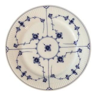 """Royal Copenhagen 9 1/4"""" Blue Fluted Dinner Plate For Sale"""