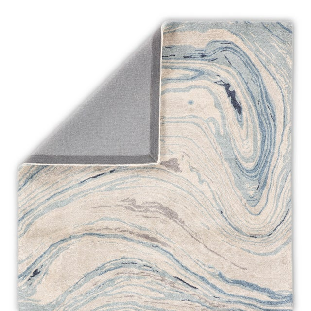 Jaipur Living Atha Handmade Abstract Blue/ Gray Area Rug - 8′ × 11′ For Sale - Image 4 of 6